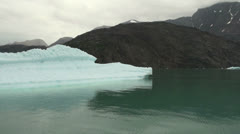 Greenland ice fjord berg turns s Stock Footage