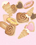 bakery buns - stock illustration