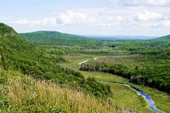 rivermountains - stock photo