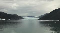 Greenland ice fjord glacier s Stock Footage