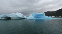 Greenland ice fjord c - stock footage