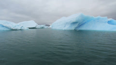 Greenland ice fjord c03 Stock Footage