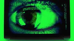Laptop screensaver computer Stock Footage