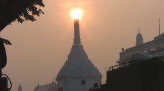 Early Morning Sun Over the Grand Palace p251 Stock Footage
