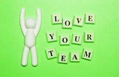 Now Love Your Team Stock Photos
