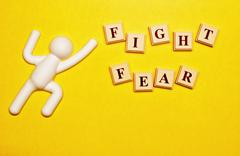 Fight Fear - stock photo