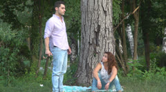Man nervous angry, Young couple, Quarrel Stock Footage