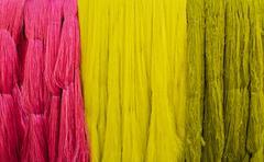 Dyed silk filament Stock Photos