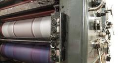 Perforation machine and print cards Stock Photos