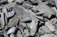 Rough charcoal texture Stock Photos