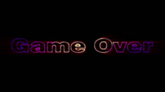 GameOver , text animation Stock Footage