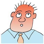 astonished - puzzled expression - stock illustration