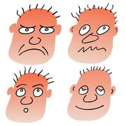 Vector different facial expressions Stock Illustration