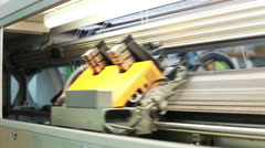View of running bobbin on loom Stock Footage