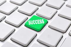 success button - stock photo