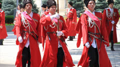 Cossack army parade Stock Footage