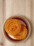 Indian jalebi sweets Stock Photos