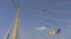 Rama 8th Bridge p240 Stock Footage