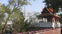 Rama 8th Bridge From Phra Sumen p239 Stock Footage