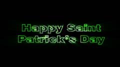 Happy Saint Patrick's Day Stock Footage