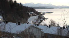 Nortern Norway, Harstad in Winter Stock Footage