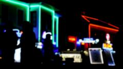 Neon city light - stock footage