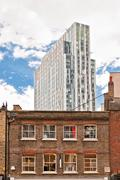 urban contrasts in Shoreditch district, London - stock photo