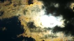 Hidding Sun Stock Footage