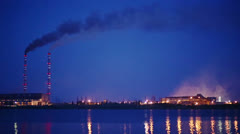 Ecology Pollution, Night View Stock Footage