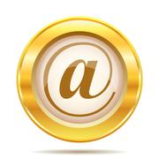 golden shiny icon - stock illustration
