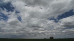 Clouds over Plains time lapse c Stock Footage