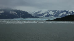 Wide shot of a majestic glacier Stock Footage
