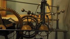 Hall town clock mechanism Stock Footage