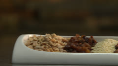 Pan Across Various Nuts HD Video Stock Footage