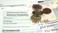 German tax form Stock Footage