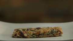 Granola Bar Picked Up, Set Down With Bite Missing HD Video Stock Footage