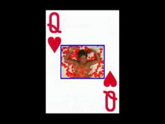 Topless Queen of Hearts Stock Footage