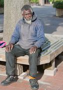 African american homeless man Stock Photos