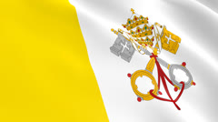 The flag of the Vatican state Stock Footage