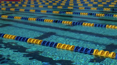 Swimming pool lanes Stock Footage