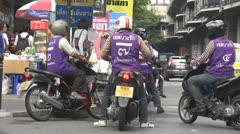 Passengers Take Motorcycle Taxis p236 Stock Footage