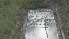 Kansas Vieux cemetery s Stock Footage