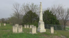 Kansas Vieux cemetery s1 Stock Footage