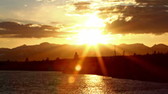 Sunset in a mountains, time lapse Stock Footage