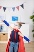 adorable superhero - stock photo