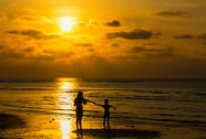 Stock Photo of silhouette of family