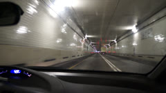 Driving Thru The Baltimore Harbor Tunnel, Maryland Stock Footage