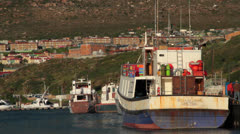 Fishing boats,South Africa Stock Footage
