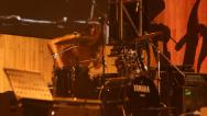 Stock Video Footage of angry drummer performing