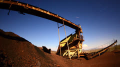 Time Lapse Pan of Abandon Mine at Night - stock footage